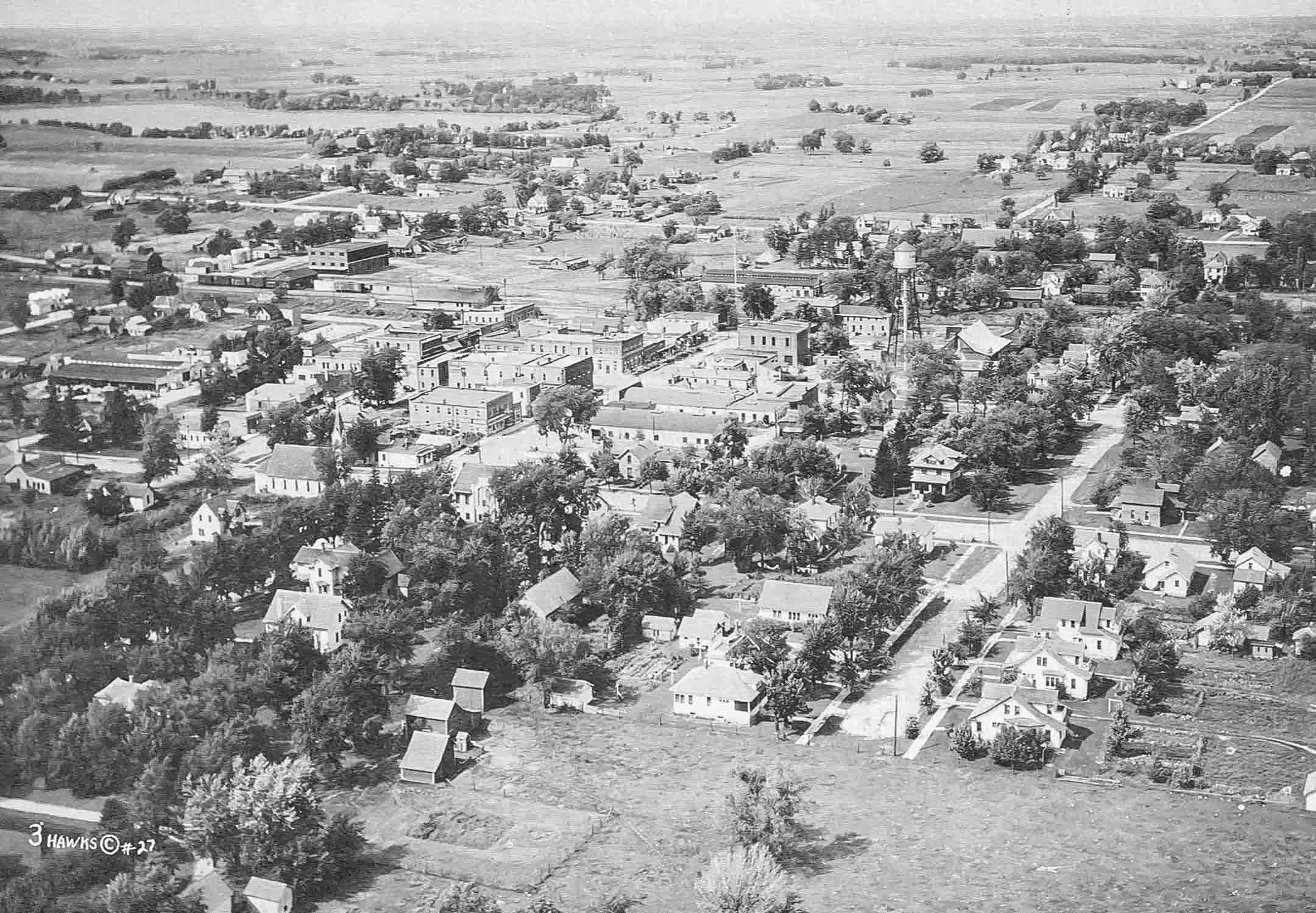 Picture of Cokato looking northwest about 1932.